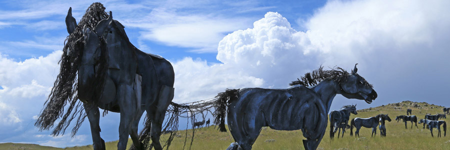 The Bleu Horses on the Summer Solstice
